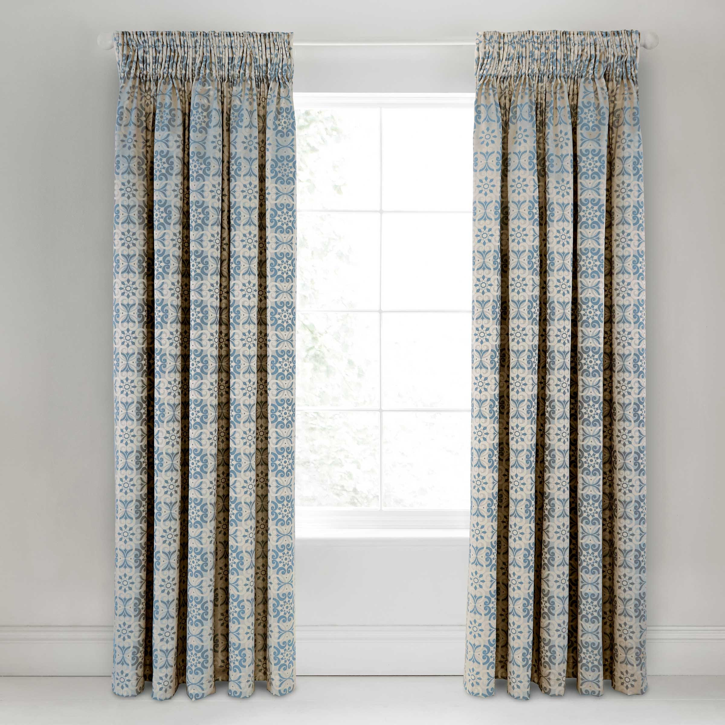 Blue curtains 66x72