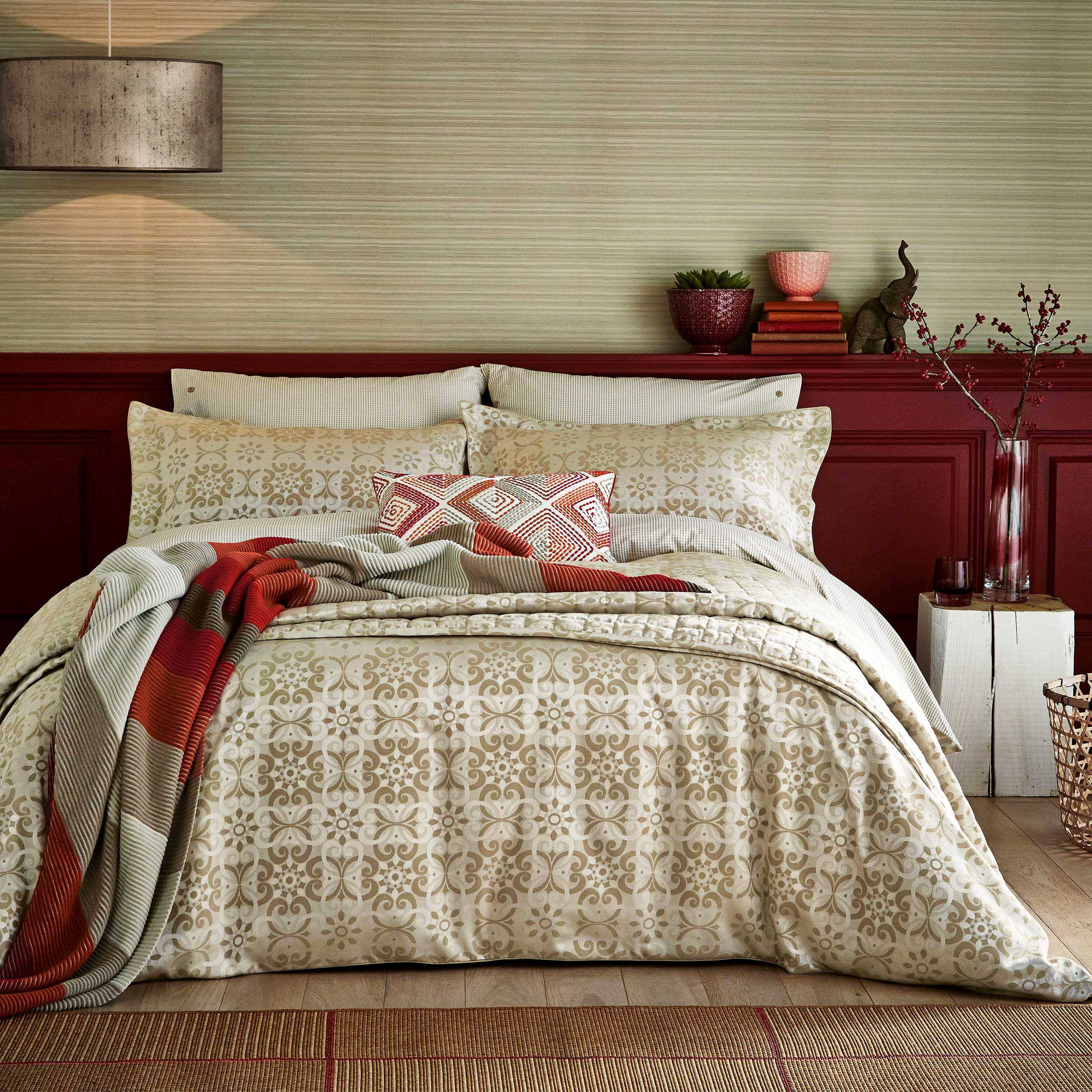 Bedeck 1951 Alie Single Duvet Cover Taupe