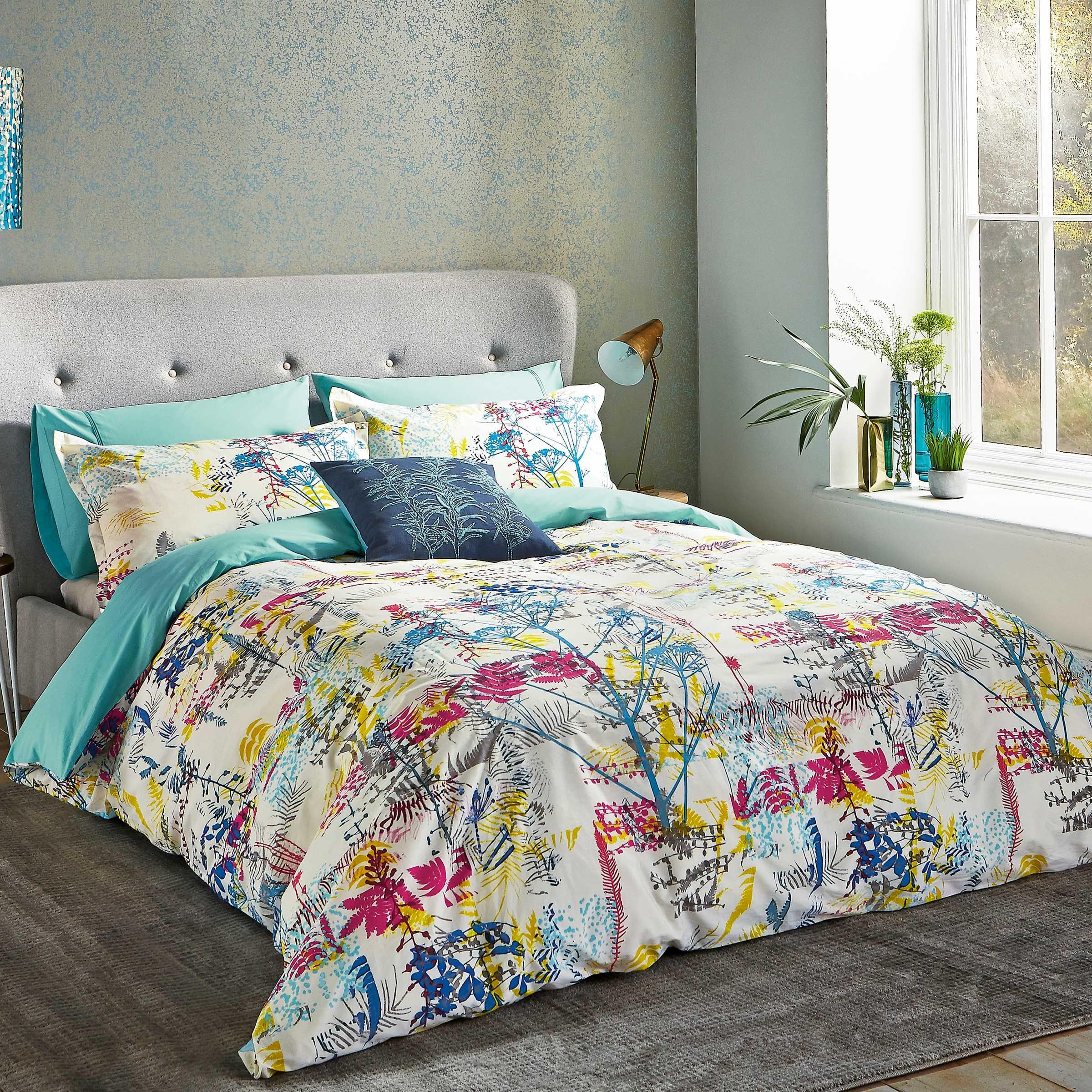 Clarissa Hulse Bedding Backing Cloth Double Duvet Cover Multi Coloured