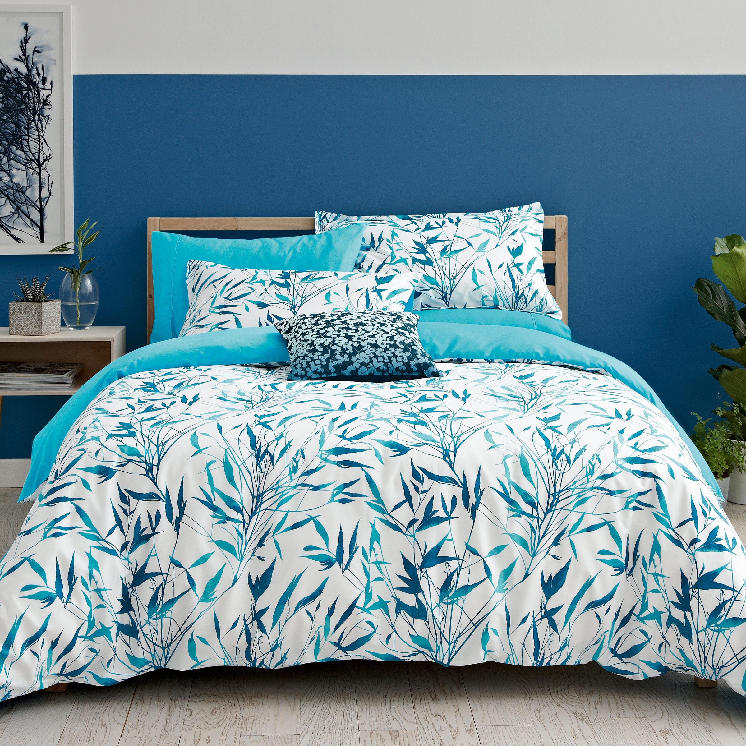 Clarissa Hulse Bedding Bamboo Double Duvet Cover Turquoise