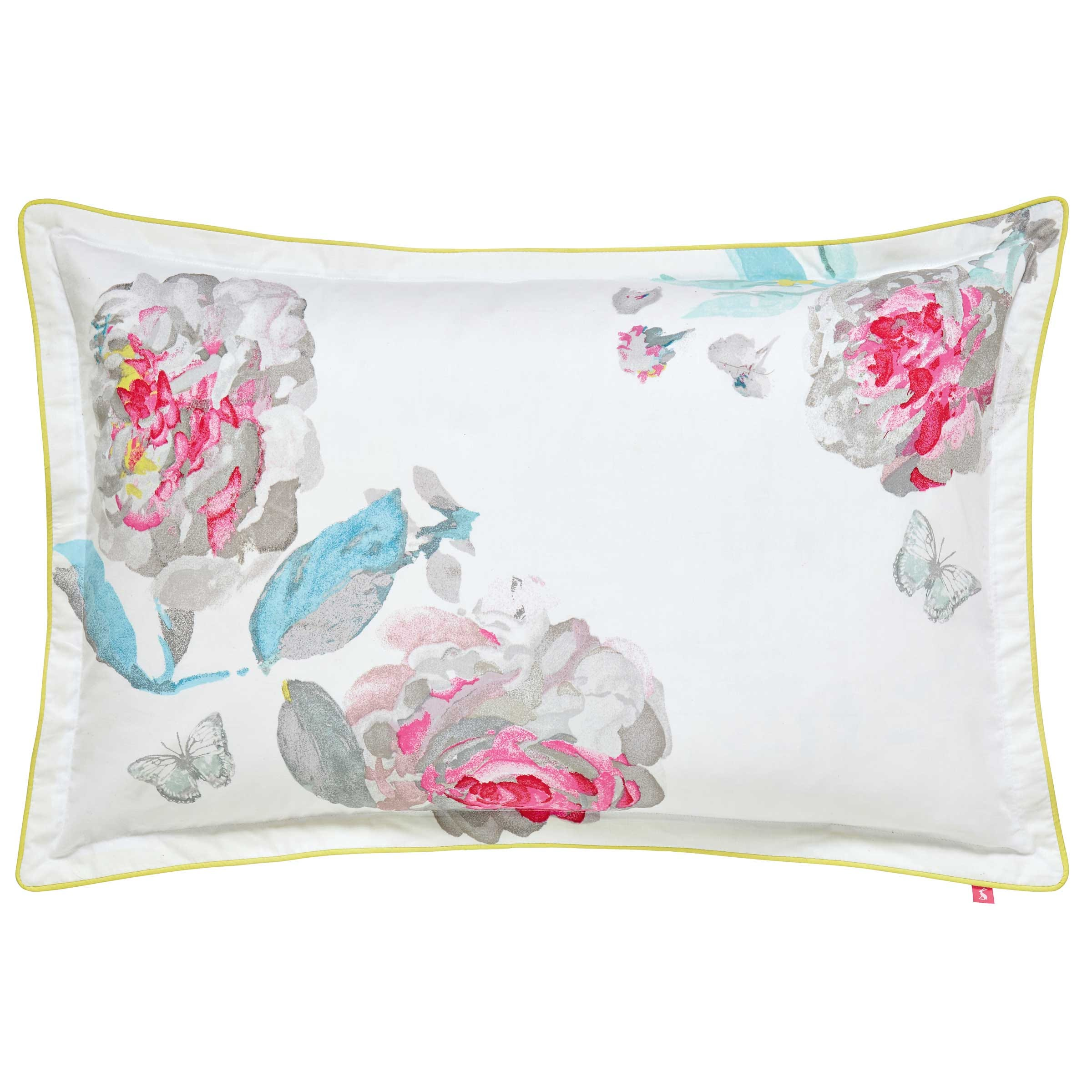 Bright White Beau Bloom Oxford Pillowcase Bedeck Home