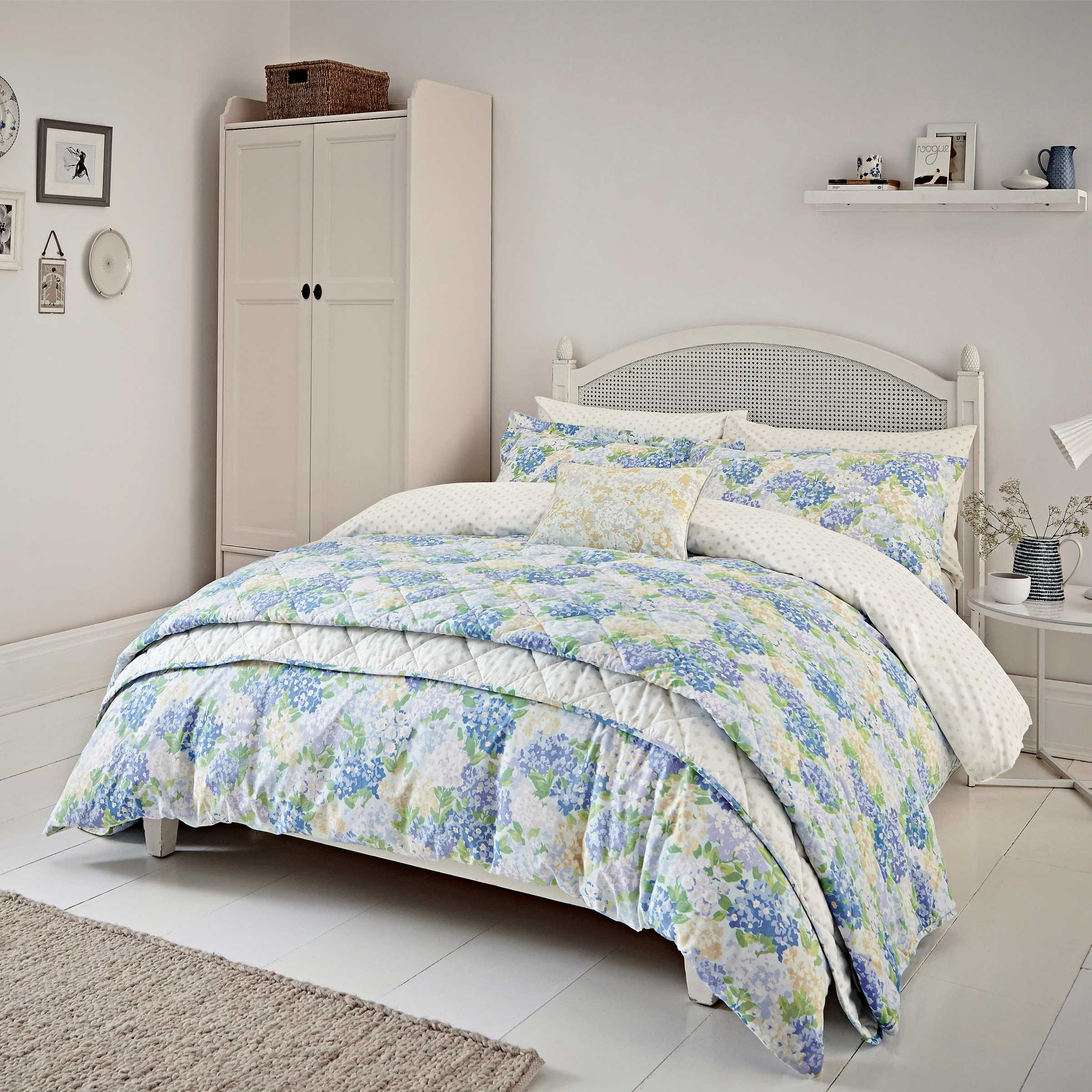 Sanderson Bedding Cottage Garden Super Kingsize Duvet Cover Set Blue