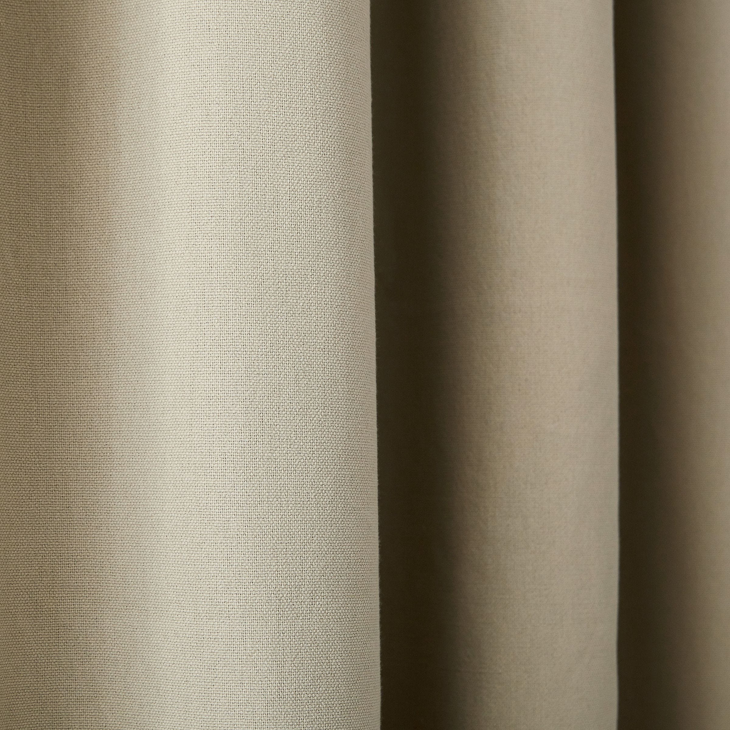 Clarissa Hulse Chroma Lined Curtains Natural Bedeck Home