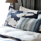 Ink Blue Bedding Harlequin Floral Bed Linen Bedeck Home