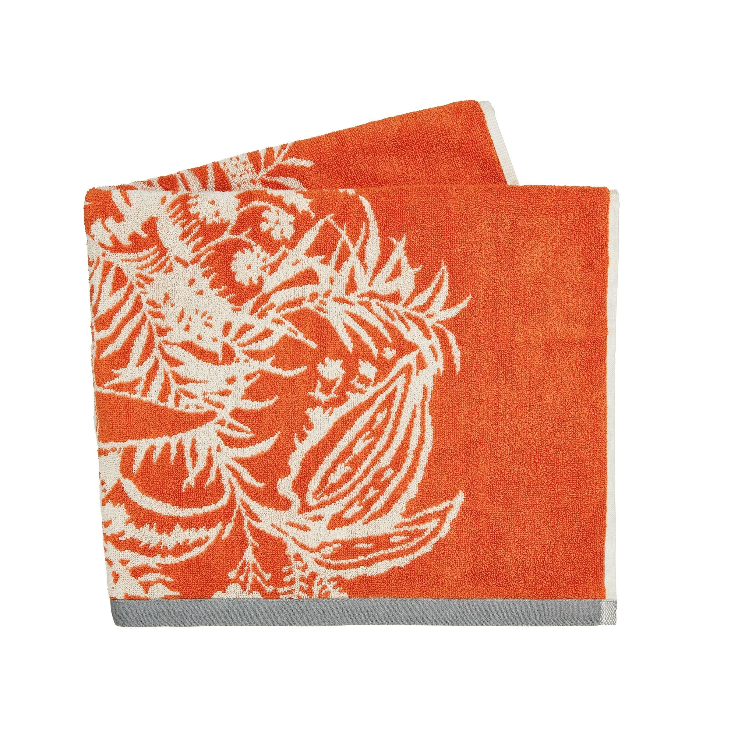 Harlequin Toco Towels Papaya Luxury Guest Towels
