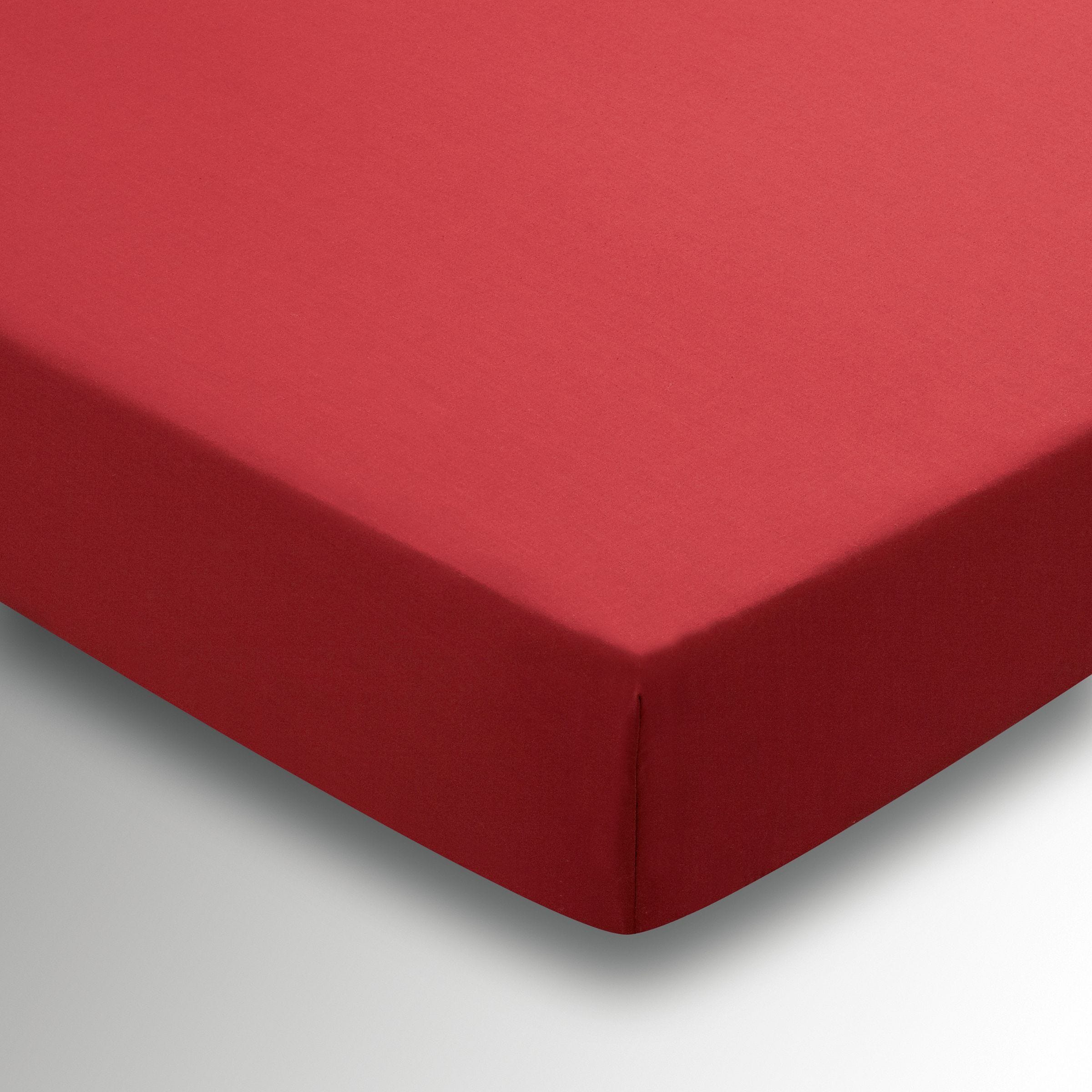 Red Double Fitted Sheet By Helena Springfield Bedeck Home