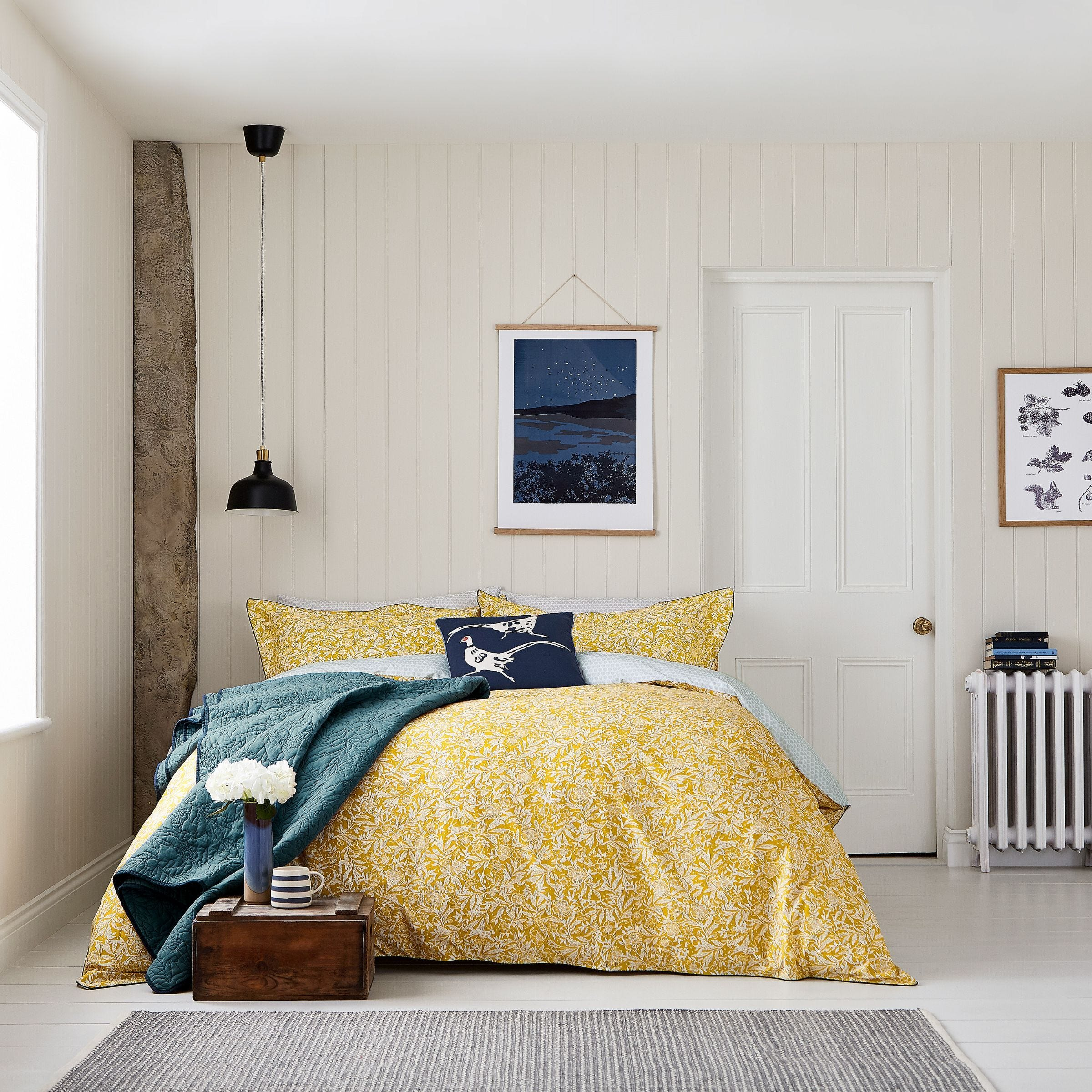 Gold Floral Bedding Joules Twilight Ditsy Bedeck Home