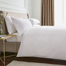 Luxury Plain White Bedding 300 Thread Count Bedeck Home