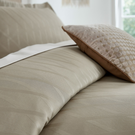 Ravello Elegant Combed Cotton Truffle Bedding Bedeck Home