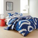 Abstract Floral Duvet Cover, Blue