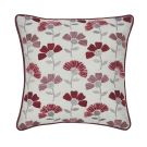 Cecila Embroided Cushion 30cm x 30cm, Berry