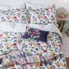 Cambridge Garden Floral Duvet Cover Set, Chalk