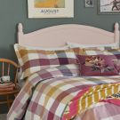 Country Ramble Check Duvet Cover, Plum