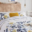Galley Grade Floral Duvet Cover, Chalk