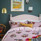 Heritage Peony Duvet Cover, Fragrant Lilac