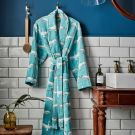 Heron Geo Robes, Turquoise