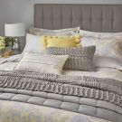 Reset Floral Duvet Cover Set, Yellow/Silver