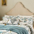 Andhara Duvet Cover, Teal & Cream