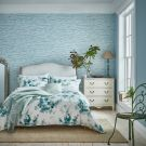 Delphiniums Duvet Cover, Mint