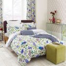 Spring Flowers Oxford Pillowcase, Blue