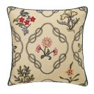 Strawberry Thief Kelmscott Trellis Cushion, Indigo
