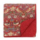 Strawberry Thief Quilted Bedspread - Crimson