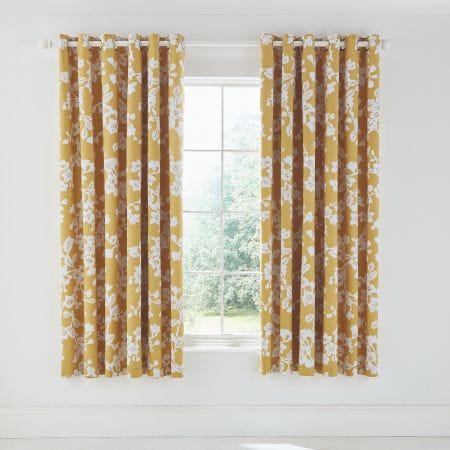 Bouvardia Lined Curtains Honey