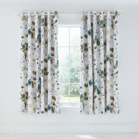 Neroli Lined Curtains Aloe