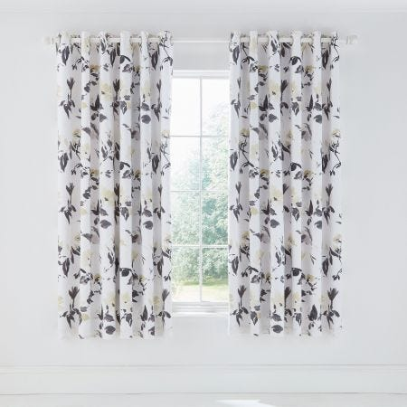 Peregrine Lined Curtains Charcoal