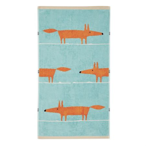 Mr Fox Towel Aqua & Tangerine