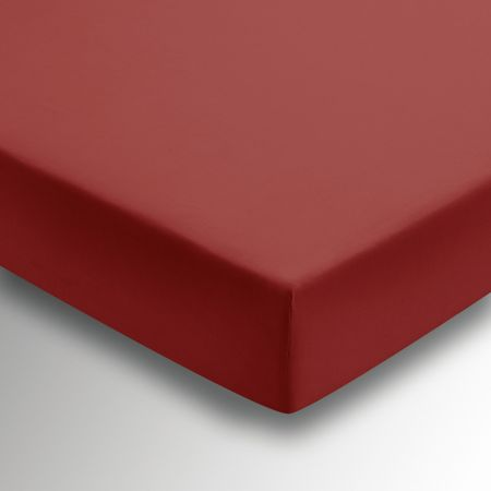 50/50 Plain Dye Percale Kingsize Fitted Sheet, Marsala