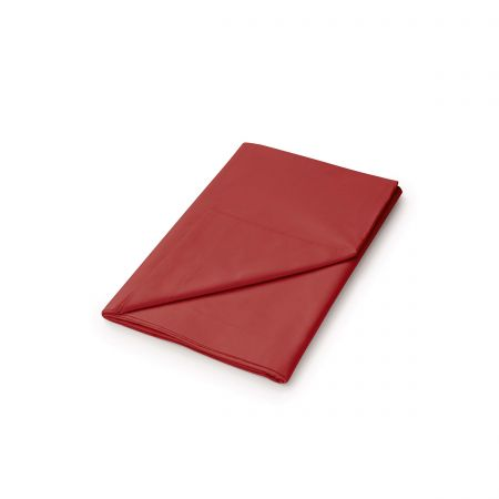 50/50 Plain Dye Percale Double Flat Sheet, Marsala