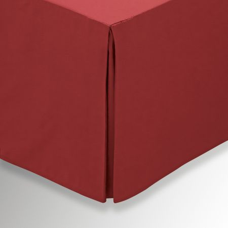 50/50 Plain Dye Percale Single Valance, Marsala