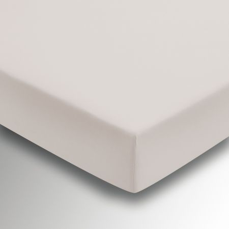 50/50 Plain Dye Percale Double Fitted Sheet, Putty