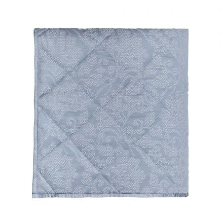 Atira Double Quilted Throw Chambray
