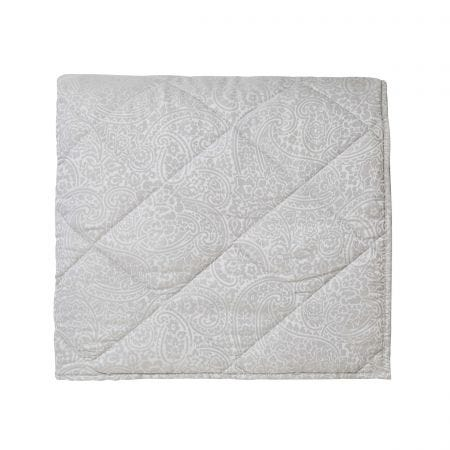 Avari Double Quilted Throw Silver
