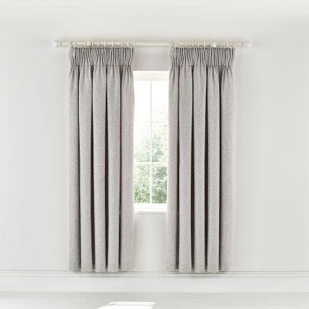 """Avari Lined Curtains 66"""" x 72"""" Silver"""