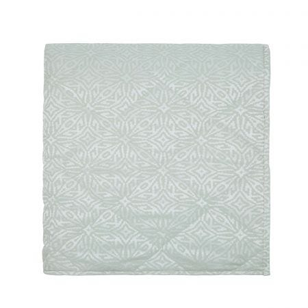 Neema Double Quilted Throw Sage