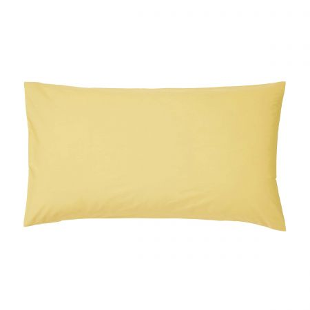 Bedeck of Belfast 200 Thread Count Plain Dye Citrine Large Housewife Pillowcase