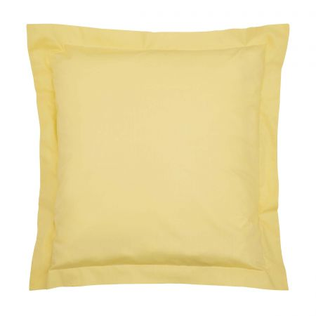 Bedeck of Belfast 200 Thread Count Plain Dye Citrine Square Oxford Pillowcase