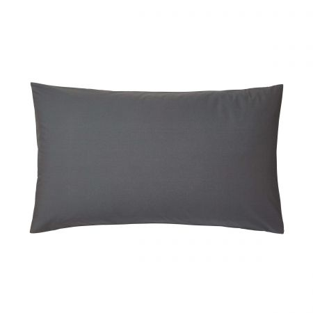 Bedeck of Belfast 200 Thread Count Plain Dye Graphite Large Housewife Pillowcase