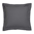 Bedeck of Belfast 200 Thread Count Plain Dye Graphite Square Oxford Pillowcase