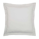 Bedeck of Belfast 200 Thread Count Plain Dye Silver Square Oxford Pillowcase