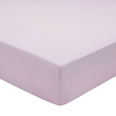 Bedeck of Belfast 200 Thread Count Plain Dye Thistle Fitted Sheet