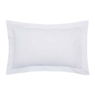 Bedeck of Belfast 200 Thread Count Plain Dye White Oxford Pillowcase