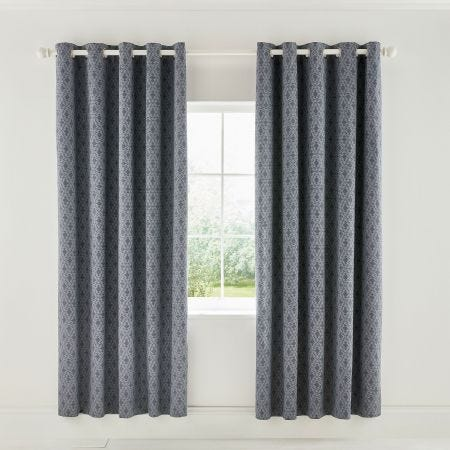Cadenza Lined Grey Curtains
