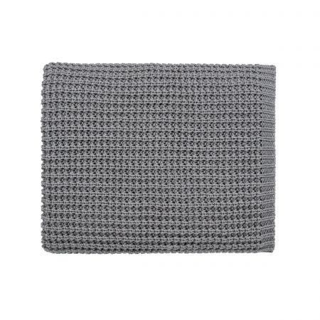 Kala Graphite Knitted Throw.