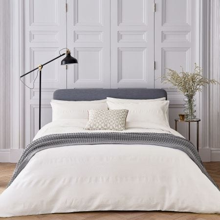 Kenza White Textured Bedding