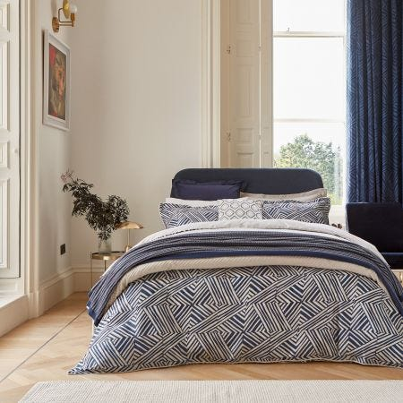 Konoko Indigo Patterned Bedding