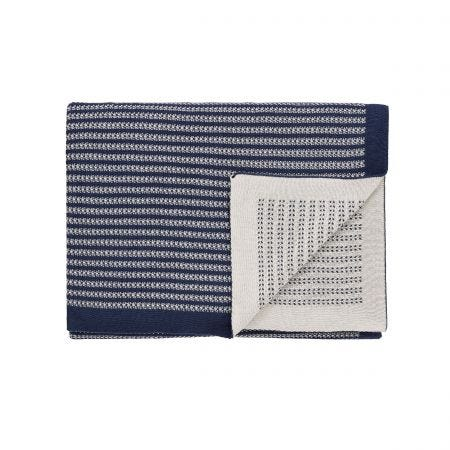 Konoko Indigo Knitted Throw.